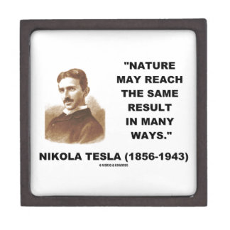 Nature May Reach Same Result In Many Ways (Tesla) Premium Gift Boxes