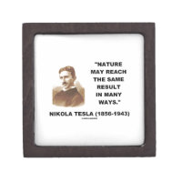 Nature May Reach Same Result In Many Ways (Tesla) Premium Keepsake Boxes