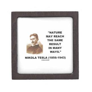 Nature May Reach Same Result In Many Ways (Tesla) Premium Keepsake Boxes