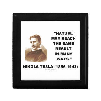 Nature May Reach Same Result In Many Ways (Tesla) Trinket Box