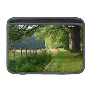Nature meadow fence sleeve for MacBook air