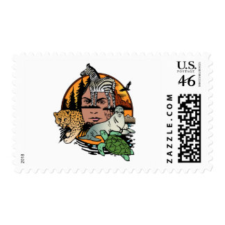 Nature montage postage stamps