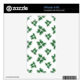 Nature Motif Pattern Design iPhone 4S Decal