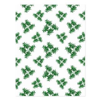 Nature Motif Pattern Design Postcard