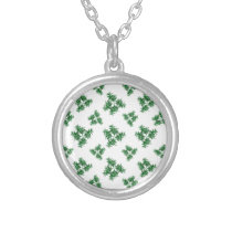 Nature Motif Pattern Design Silver Plated Necklace