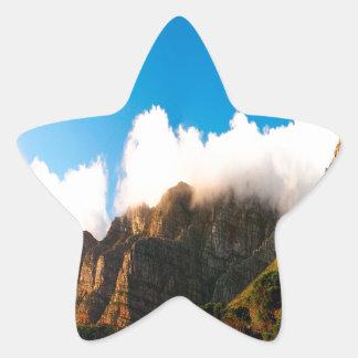 Nature Mountain Sunlit Tops Star Sticker