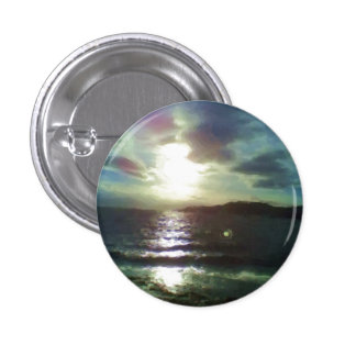Nature of sea paint pinback buttons