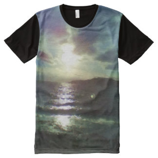 Nature of sea paint effect All-Over-Print shirt