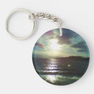 Nature of sea paint acrylic key chain