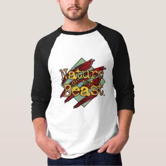'Nature of the Beast' 3/4 Logo T-Shirt