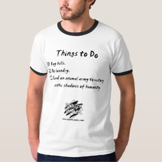 """Nature of the Beast - """"Things to do"""" T-Shirt"""