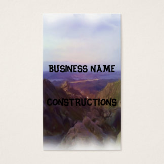 Nature oil paint business card