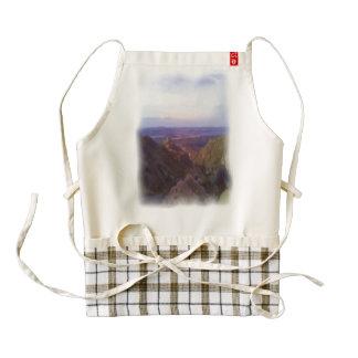 Nature oil paint zazzle HEART apron