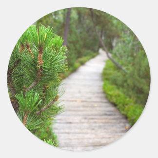 Nature Path Classic Round Sticker