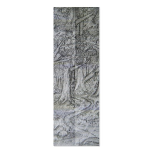 Nature Pencil Drawing Bookmark Mini Business Card