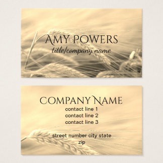 nature photo art custom business card double sided