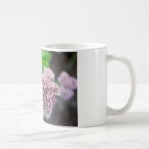 Nature photo bee on pink flower coffee mug