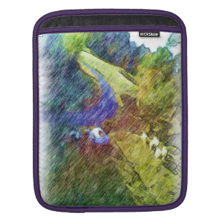 Nature photo drawing sleeves for iPads