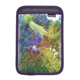 Nature photo drawing iPad mini sleeve