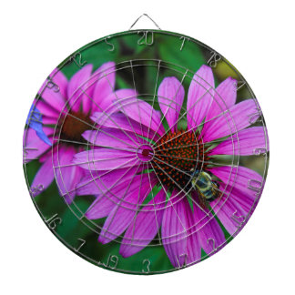 Nature Photo of a Bumble Bee on a Flower Dartboard With Darts
