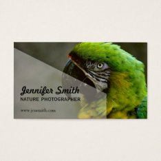 Nature Photographer Business Card at Zazzle