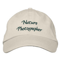 Nature Photographer Embroidered Baseball Hat