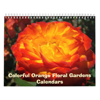 Nature Photography Calendar Colorful Orange Floral
