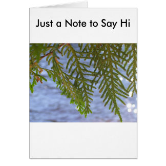 Nature photography card