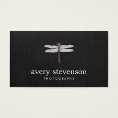 Nature Photography Dragonfly Business Card at Zazzle