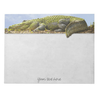 Nature Photography Huge Gator Panoromic Cut Out Notepad