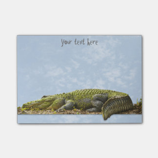 Nature Photography Huge Gator Panoromic Cut Out Post-it Notes
