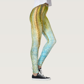 Nature Photography of Ripples in Pond Reflections Leggings