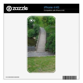 Nature Photography Park Bridge Trees Green iPhone 4 Skin