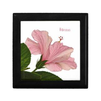 Nature Photography Pink Hibiscus Closeup Photo Keepsake Box