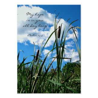 Nature Photography Poster Christian Scripture