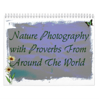 Nature Photography Proverbs Calendar
