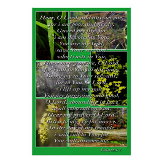 nature photos and psalm 86 1-7 posters