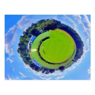 nature planet postcard