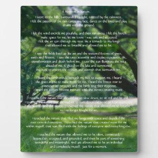 Nature Poem Photo Plaque