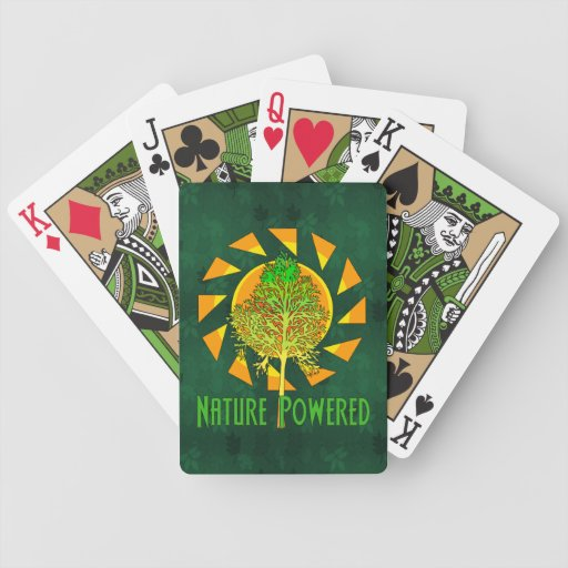Nature Powered Bicycle Playing Cards