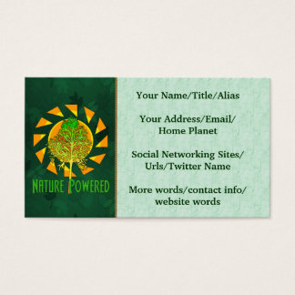 Nature Powered Business Card