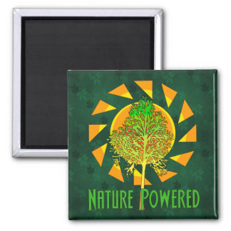 Nature Powered 2 Inch Square Magnet