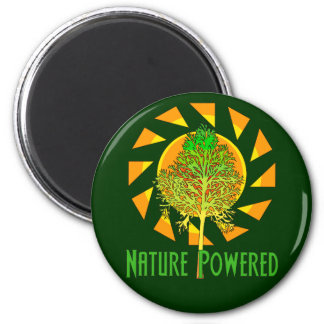 Nature Powered 2 Inch Round Magnet