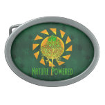 Nature Powered Oval Belt Buckles