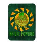 Nature Powered Rectangular Photo Magnet
