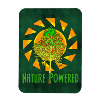 Nature Powered Rectangular Photo Magnet