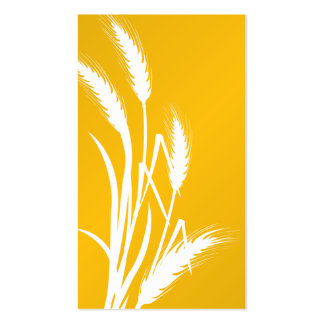 Nature Print - Yellow Wheat Business Cards