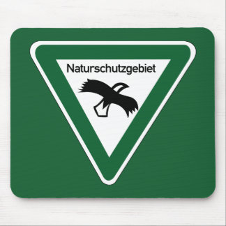 Nature Protection Area Sign, Germany Mouse Pad
