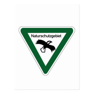 Nature Protection Area Sign, Germany Postcard