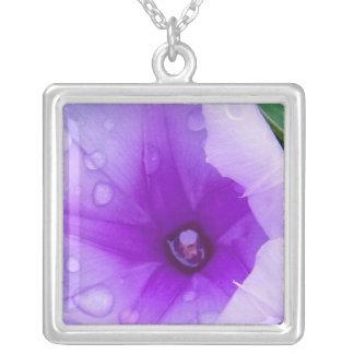 Nature purple tears square pendant necklace